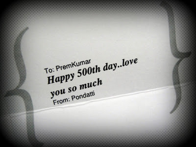 500th Day Greeting Card