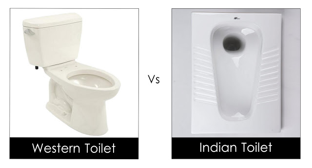 Indian Vs Western Toilet